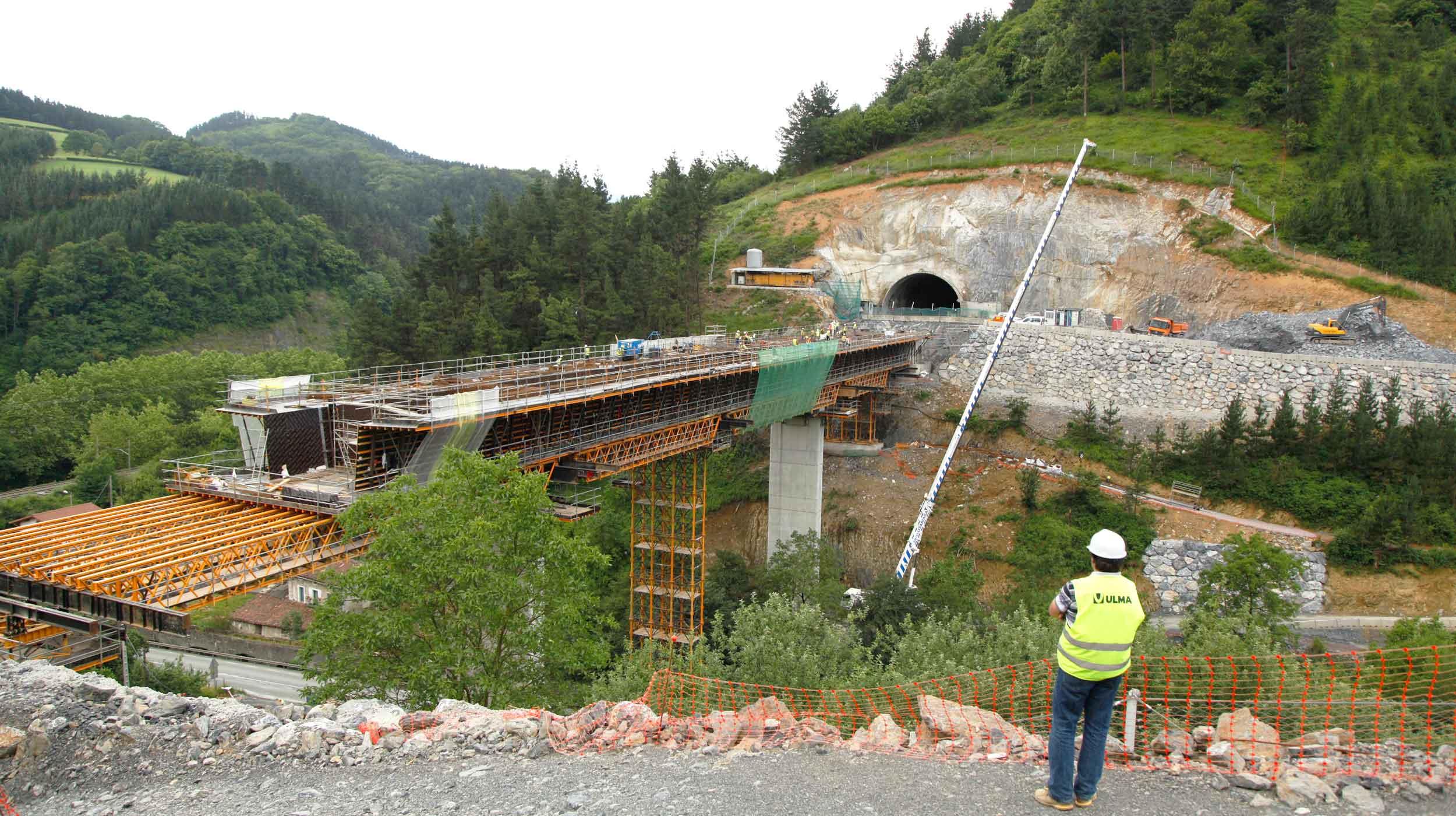 Los trabajos en el tramo Tolosa-Hernialde suponen el octavo ramal en obras de la Y Vasca.