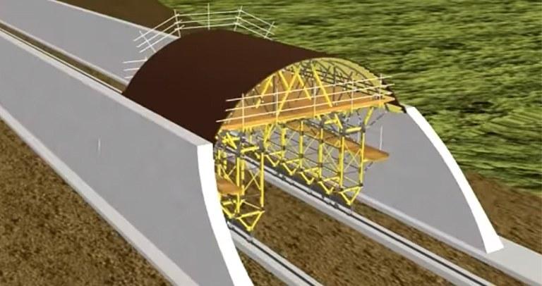 Carro de encofrado MK para túneles a cielo abierto