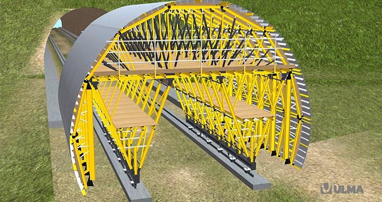 Carro de encofrado MK para túnel en mina