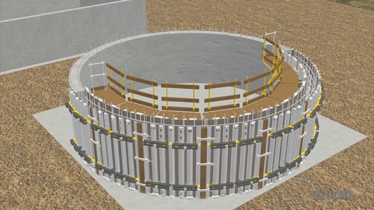 Encofrado circular ajustable BIRAMAX